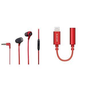 キングストン HyperX ゲーミングイヤホン Cloud Earbuds HX-HSCEB-RD  エレコム iPhone headphone adapter [lightning - 3.5mm] ヘッド mount-n-online