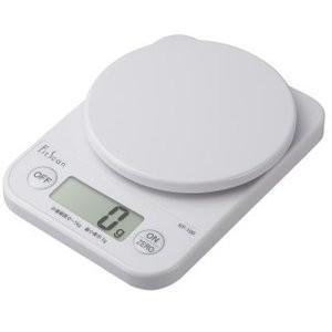 クイックポスト便 タニタ デジタルクッキングスケール 1kg/1g ホワイト KF-100-WH キ...