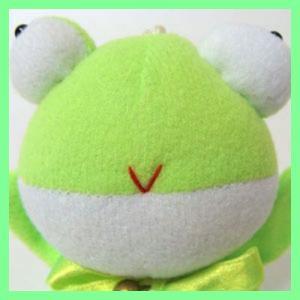【カエル】目玉かえるキーホルダー(グリーン)|mount-valley