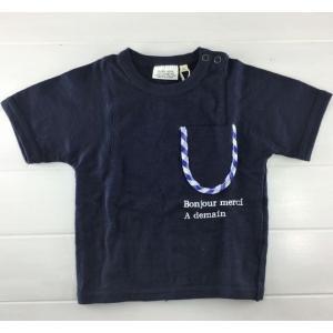 BLUEU AZUR ブルーアズール  /  ポケット付きTシャツ [80cm-130cm]|moutonkids