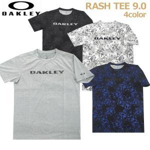 ラッシュTシャツ ラッシュガード 半袖 サーフィン 海水浴 プール メンズ オークリー OAKLEY...
