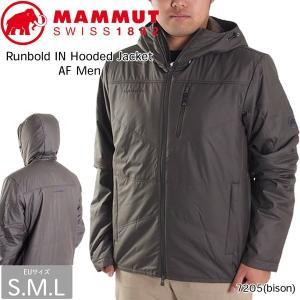 値下げ!!  MAMMUT (マムート) Runbold IN Hooded Jacket AF Men 7205  ランボルド インサレーションフーディジャケット アジアンフィット bison  (MMTBGN)|move