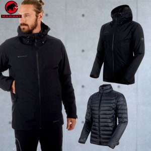 マムート(MAMMUT) Convey 3 in 1 HS Hooded Jacket Men カラー:0052 black-black(MAMMUT_2018FW) move