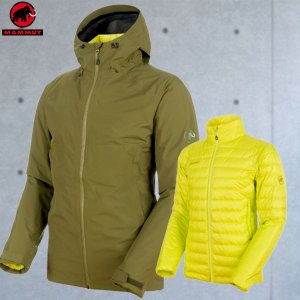 マムート(MAMMUT) Convey 3 in 1 HS Hooded Jacket Men カラー:40034 clover-canary(MAMMUT_2018FW)|move