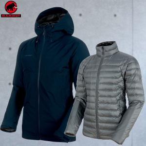 マムート(MAMMUT) Convey 3 in 1 HS Hooded Jacket Men カラー:5886 marine-titanium(MAMMUT_2018FW)|move
