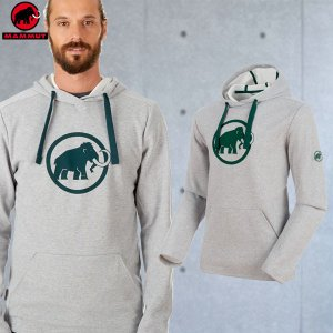 マムート(MAMMUT) Mammut Logo ML Hoody Men カラー:0868 stone grey m?lange(MAMMUT_2018FW)|move
