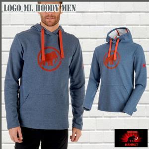 マムート MAMMUT Mammut Logo ML Hoody Men  marine melange-dark orange ジャケット (MMT_2018SS) 18ddscn|move