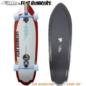 スケートボード SLIDE x FB  THE MANEUVER KAMO 35 スライドxフラットバンカーズ コラボ! サーフスケート|move