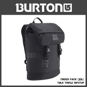 BURTON TINDER PACK [25L] カラー:TBLK TRIPLE RIPSTOP バートン バックパック|move