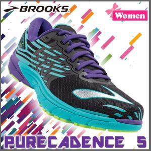 ランニングシューズ ブルックス BROOKS レディース PURECADENCE 5 (009) マラソン ジョギング brk-16ss|move
