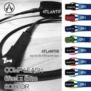 ATLANTIS(アトランティス) COMP LEASH 6feet x 6mm ショートボード用 コンプタイプ リーシュ|move