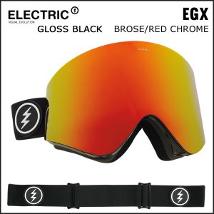 特典付き♪スノーボード ゴーグル 17-18 エレクトリク EGX GLOSS BLACK BROSE/RED CHROME|move