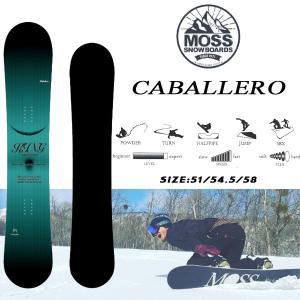 スノーボード 板 ややワイド フリーライド 18-19 MOSS モス CABALLERO キャバレロ|move