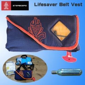 S# スターボード STARBOARD LIFESAVER BELT VEST フリーサイズ ボンベ付き SUP 浮力体|move