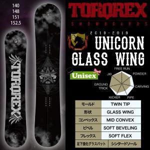 スノーボード 板 グラトリ ダブルキャンバー オールラウンド ツイン 18-19 TORQREX トルクレックス UNICORN GLASS WING ユニコーン グラスウイング|move