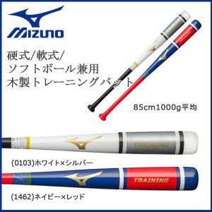 野球 MIZUNO ミズノ 硬式用 軟式用 ソフトボール用 兼用 木製 トレーニングバット 実打撃可 85cm1000g平均|move