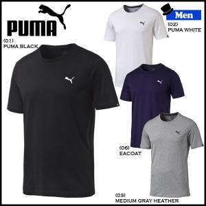 メンズ Tシャツ プーマ PUMA コットン Tシャツ ワンポイント 無地|move