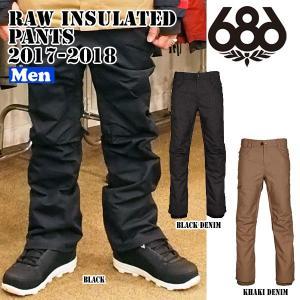 メンズ スノーボード ウェア ウエアー 17-18 686【シックスエイトシックス】RAW INSULATED PANTS|move