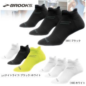 ランニングソックス メンズ レディース 3足組ソックス ブルックス BROOKS RUN-IN THREE PACK S(21-23.5cm)、M(24-26.5cm)|move