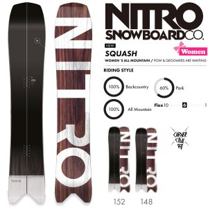 スノーボード 板 18-19 NITRO ナイトロ SQUASH WMN スカッシュウーマン|move