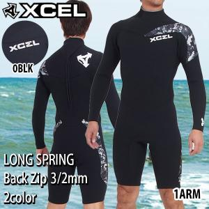 16 XCEL(エクセル) バックジップ ロンスプ リミテッド 3/2mm X-SUPER FLEX ジャージモデル AG268-103 長袖スプリング 長袖半ズボン kpn-w wet_dis|move