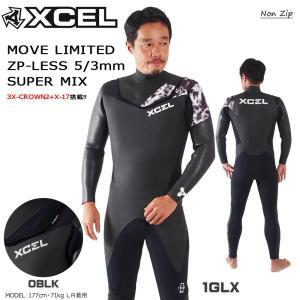 17-18 XCEL(エクセル) MOVE LIMITED ダブルネック ZP-LESS 5/3mm SUPER MIX ノンジップ セミドライ ウエットスーツ|move