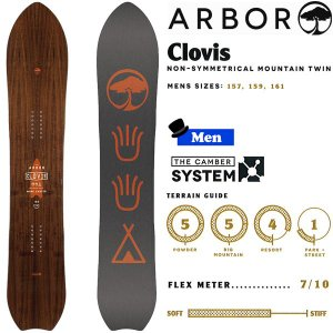 スノーボード 板 フリーライド パウダー 18-19 ARBOR アーバー CLOVIS クロビス|move