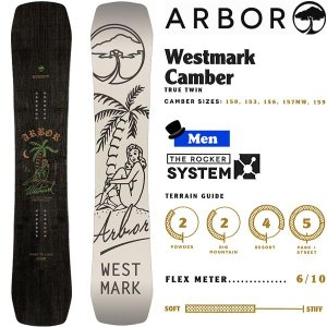 スノーボード 板 フリースタイル パーク 18-19 ARBOR アーバー WESTMARK CAMBER ウエストマークキャンバー|move