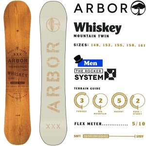 スノーボード 板 マウンテンツイン 18-19 ARBOR アーバー WHISKEY ウイスキー|move
