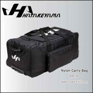 HATAKEYAMA ハタケヤマ ナイロン キャリーバッグ 幅80cm×奥行40cm×高さ33cm -ブラック-|move