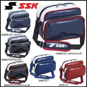 野球 SSK エスエスケイ エナメルミニショルダーバッグ 合成皮革製(PVCエナメル加工) -容量:約6L-|move