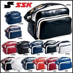 野球 SSK エスエスケイ エナメルショルダーバッグ 合成皮革製(PVCエナメル加工) -容量:約36L-|move