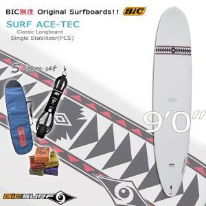 BIC ビック  9'0 Classic Longboard SURF ACE-TEC  ロングボード MOVE 別注 リミテッド サーフィン サーフボード 初心者5点セット|move