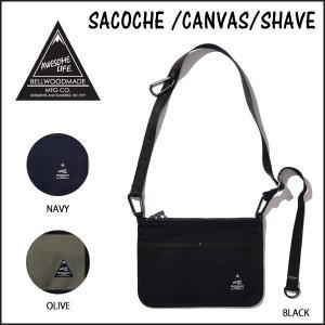 サコッシュ バッグ ポーチ BELLWOODMADE SACOCHE /CANVAS/SHAVE BLACK ベルウッドメイド move