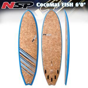 16 NSP CocoMat Fish Surf 6'0 フィン・リーシュ付 ショートボード|move