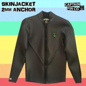18 CAPTAIN FIN(キャプテンフィン) SKINJACKET 2mm ANCHOR ブラック ラバージャケット|move