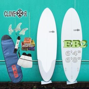 サーフボード 初心者セット ファンボード クローバー CLOVER SURFBOARDS EB2 素材/EPS 初〜中級者向け お得6点セット 条件付き送料無料|move
