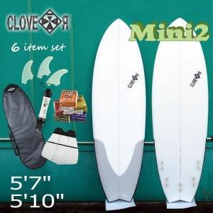 サーフボード ショートボード セット クローバー ミニボードCLOVER SURFBOARDS MINI2 素材/EPS 中級者〜向け お得6点セット セカンドボード サーフィン|move