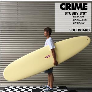 サーフボード ソフトボード 正規 CRIME SOFTBOARDS クライム STUBBY 8'0 ...