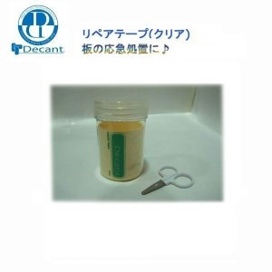 サーフィン リペア用品 デキャント Decant リペアテープ(クリア) 応急処置|move