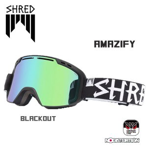 スノーボード ゴーグル ワイド 平面レンズ 18-19 SHRED シュレッド AMAZIFY BLACKOUT CBL/PLASMA アメージファイ|move