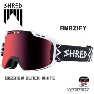 スノーボード ゴーグル ワイド 平面レンズ 18-19 SHRED シュレッド AMAZIFY BIGSHOW BLACK-WHITE CBL/BLAST アメージファイ|move