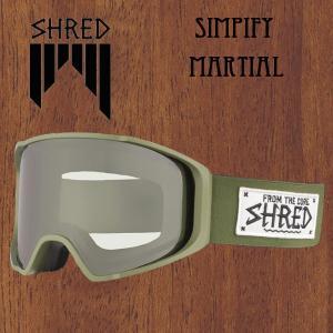 スノーボード ゴーグル ワイド 平面レンズ 18-19 SHRED【シュレッド】SIMPLIFY MARTIAL+BONUS シンプリファイ move