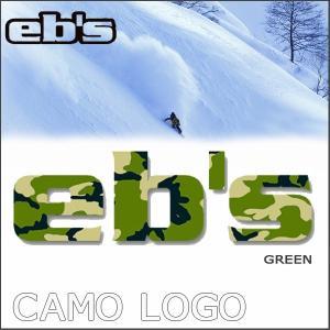 スノーボード ステッカー eb's エビス CAMO LOGO カモロゴ|move