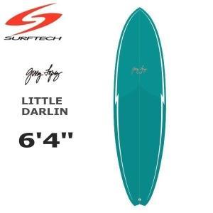 """サーフボード SURFTECH サーフテック GERRY LOPEZ 6'4"""" LITTLE DARLIN 5FIN ターコイズ ジェリー・ロペス move"""