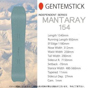 スノーボード 板 18-19 GENTEMSTICK ゲンテンスティック MANTARAY 154 マンタレイ インディペンデントシリーズ|move