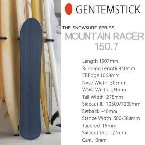 スノーボード 板 18-19 GENTEMSTICK ゲンテンスティック MOUNTAIN RACER 150.7 マウンテンレーサー スノーサーフシリーズ|move