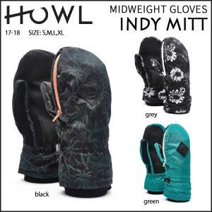 スノーボード グローブ メンズ 17-18 HOWL 【ハウル】 MIDWEIGHT GLOVES INDY MITT<br>|move