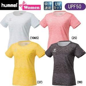 女性用 フィットネス ランニングウエア ヒュンメル hummel レディースTシャツ ドライニットTee トレーニングウエア|move