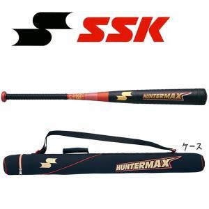野球 SSK エスエスケイ 一般軟式金属バット HUNTERMAX ハンターマックス 85cm750g平均 ブラック/レッド 新球対応|move